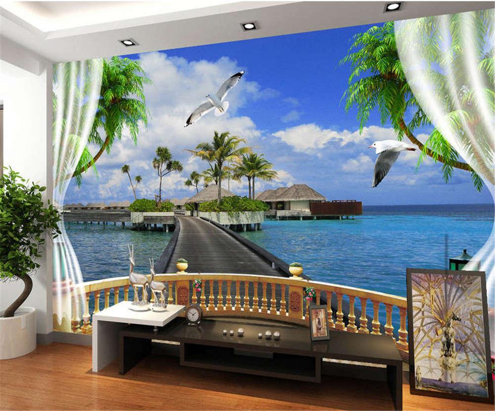 Tuneful Blau Ocean 3D Full Wall Mural Photo Wallpaper Printing Home Kids Decor