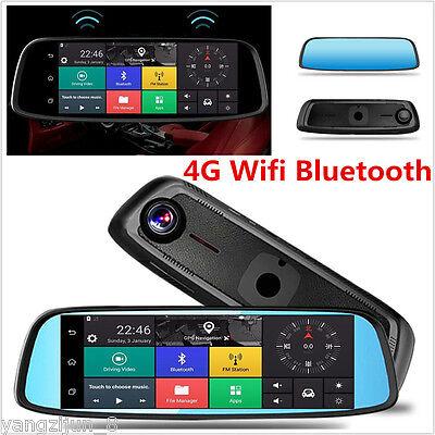 "Car Video Gentle 8""1080p Car Dvr Camera Video 4g Recorder Dash Cam Dual Lens Wifi Rearview Mirror"
