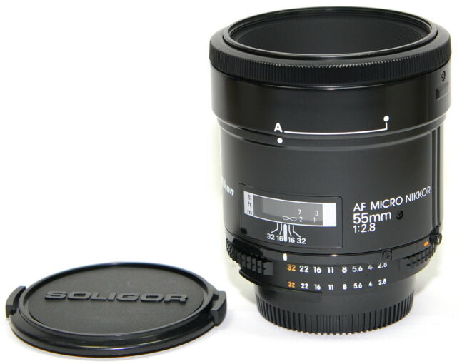 Nikon AF Micro Nikkor 55 mm 2.8 Objektiv TOP