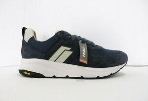 Dettagli su FRAU 10G2 sneakers uomo camoscio blu lacci plantare memory suola vibram