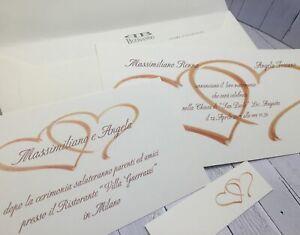 Ebay Partecipazioni Matrimonio.Partecipazioni Nozze Inviti Matrimonio Buonanno N001 Sposi Ebay