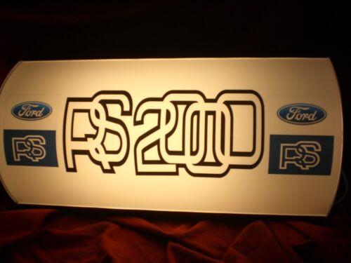 Ford,escort,RS2000,MK,garage,light up,sign,display,mancave,workshop,shed,2,1