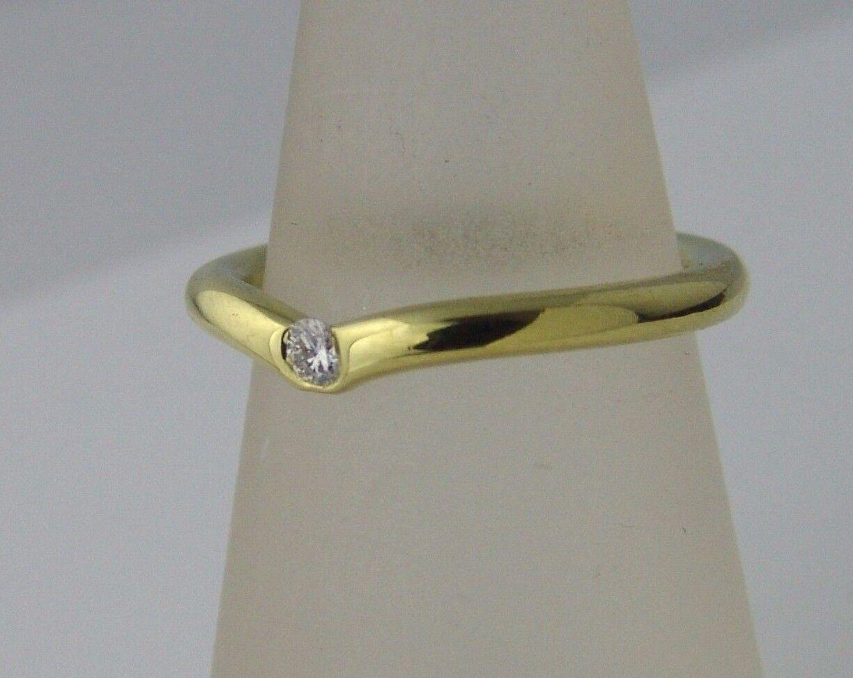 ORIGINALE niessing anello in 18k giallo con con con circa 0 06ct DIAMANTE BRILLANTE mis. 53 e7f077