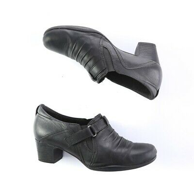 Clarks Black Leather Slip on Loafers