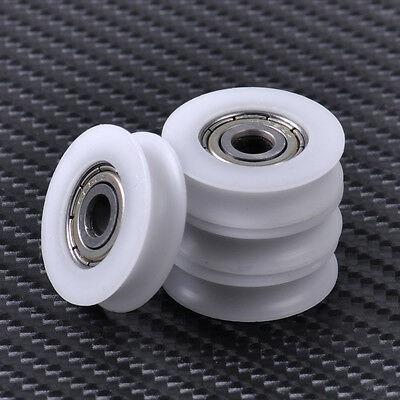 NEW 4pcs U Groove Wheel Guide Pulley Sealed Rail Ball Bearing Furniture 5x23x7mm