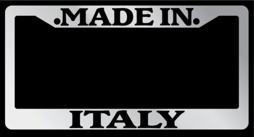 Chrome METAL License Plate Frame Made In Italy Auto Accessory