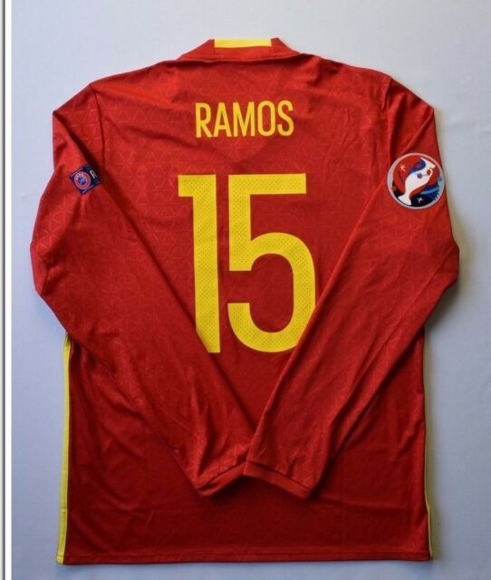 5635e12e129 ... ebay 5 5 spain 2015 2016 15 sergio ramos original football home shirt  jersey adidas d207d