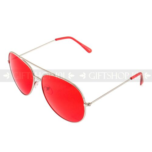 Aviator Sunglasses Retro Style Men Women Colorful Lens Metal Frame Glasses UV400