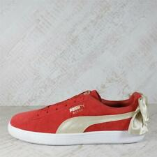 Womens Puma Suede Bow Varsity Red/Gold Trainers (PFP1) RRP £79.99