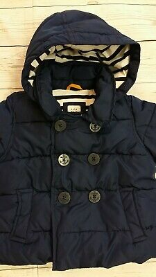 Baby Gap Girl Nautical Double Breasted Hooded Button Cardigan Sweater Jacket NWT