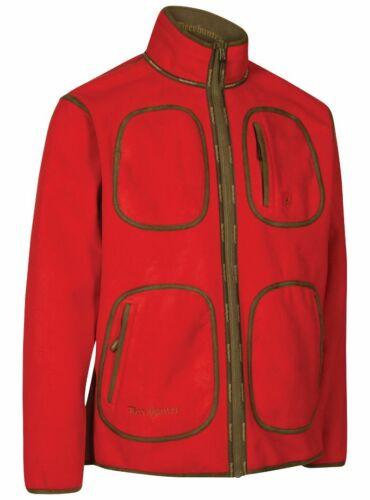 441 Dh Red Deerhunter Gamekeeper Reversible Fleece Jacket Size:L Color
