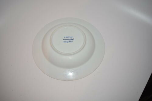 "SWID POWELL GWATHMEY SIEGEL CHICAGO BLUES SOUP BOWL 8 1//2/"" WHITE DIAMONDS BLUE"