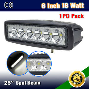 1PC-6INCH-18W-LED-SPOT-FLOOD-DRIVING-OFFROAD-4WD-WORK-LIGHT-BAR-WD-10W-54W