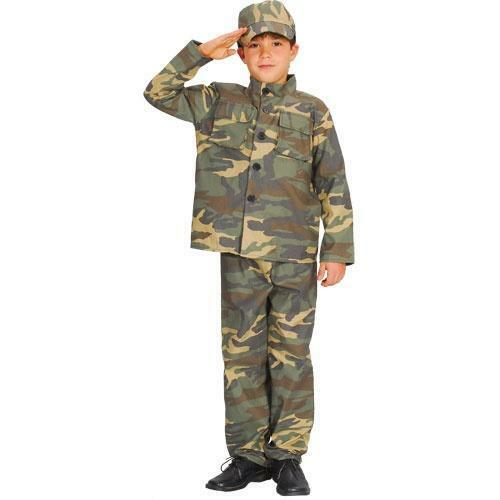 Action Commando Boys Fancy Dress Army Military Uniform Kids Child Costume Outfit