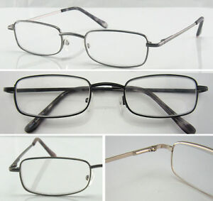 Classic-Metal-Reading-Glasses-Multi-Design-Spring-Hinges-Arms-Strength-50-400