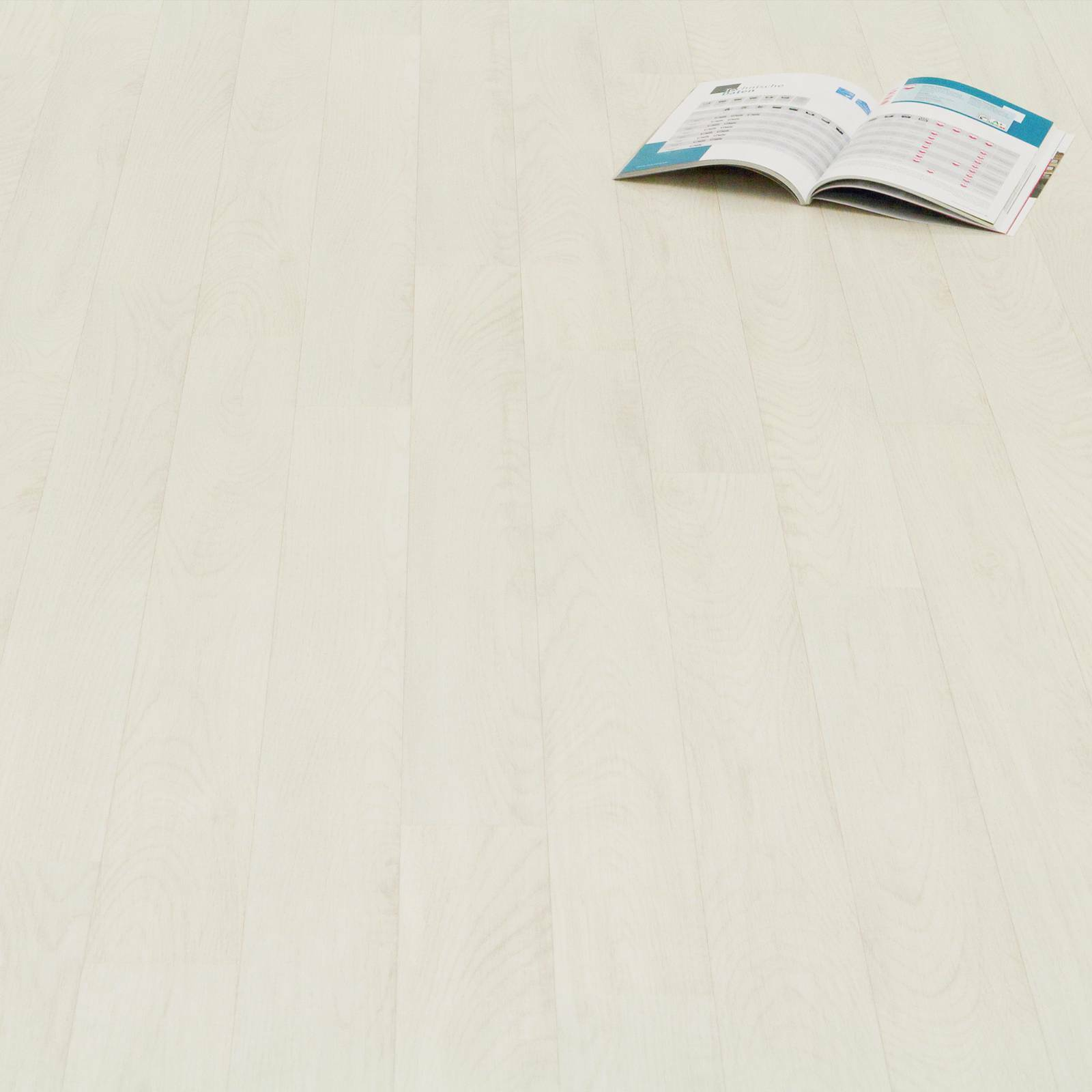 PVC CV Vinyl Bodenbelag Holz Planken Weiss Gekalkt Breite 3 m - 1m²