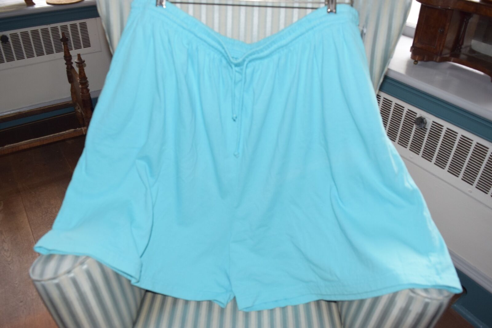 NWT  FRESH PRODUCE 100% COTTON  JERSEY SHORTS IN AQUAMARINE..GORGEOUS COL (3X)