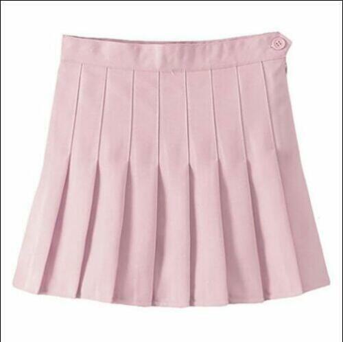 Women's Girls Slim Thin High Waist Pleated Tennis Skirts Mini Dress Playful NEW