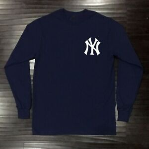New-York-Yankees-Long-T-Shirt-Graphic-Cotton-Men-Adult-Logo-Jersey-NY-NYY-Chest