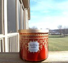 BATH & BODY WORKS LARGE 3-WICK CANDLE JAR IN SPARKLING AMBER! FREE SHIP