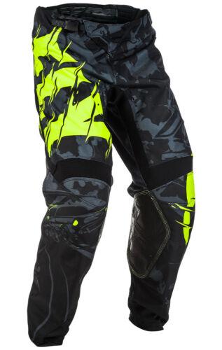 Fly Racing MX Motocross MTB BMX 2018 Kids KINETIC Outlaw Pants Black//Hi-Vis
