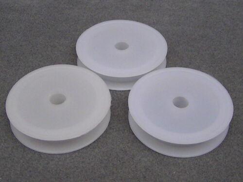String 5 White Empty Plastic Spools For Beading Wire Ribbon. BOX11 Thread