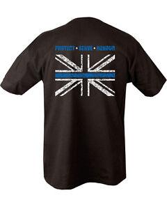 673e55f7 Thin Blue Line T Shirt Double Print T Shirt Police Service Union ...
