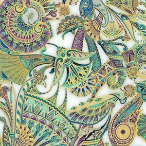 Robert-Kaufman-Treasures-of-Alexandria-18845-89-Opal-Egyptian-Themed-Fabric-BTY