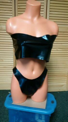 Latex Black Bikini