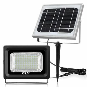 Details About Cly 60 Led Solar Lights Outdoor Security Floodlight 300 Lumen Ip66