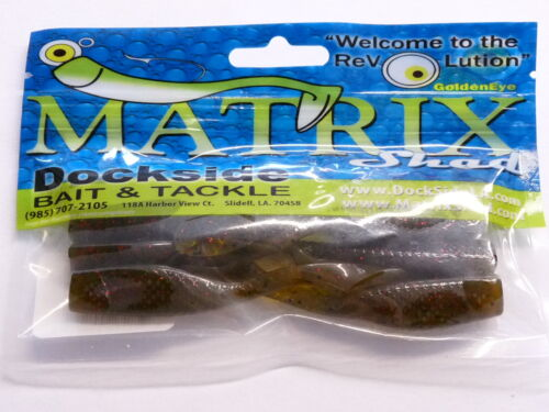 "Matrix Shad 3/"" Soft Plastic Bait Fishing Lure Fresh /& Salt Waters Avocado"