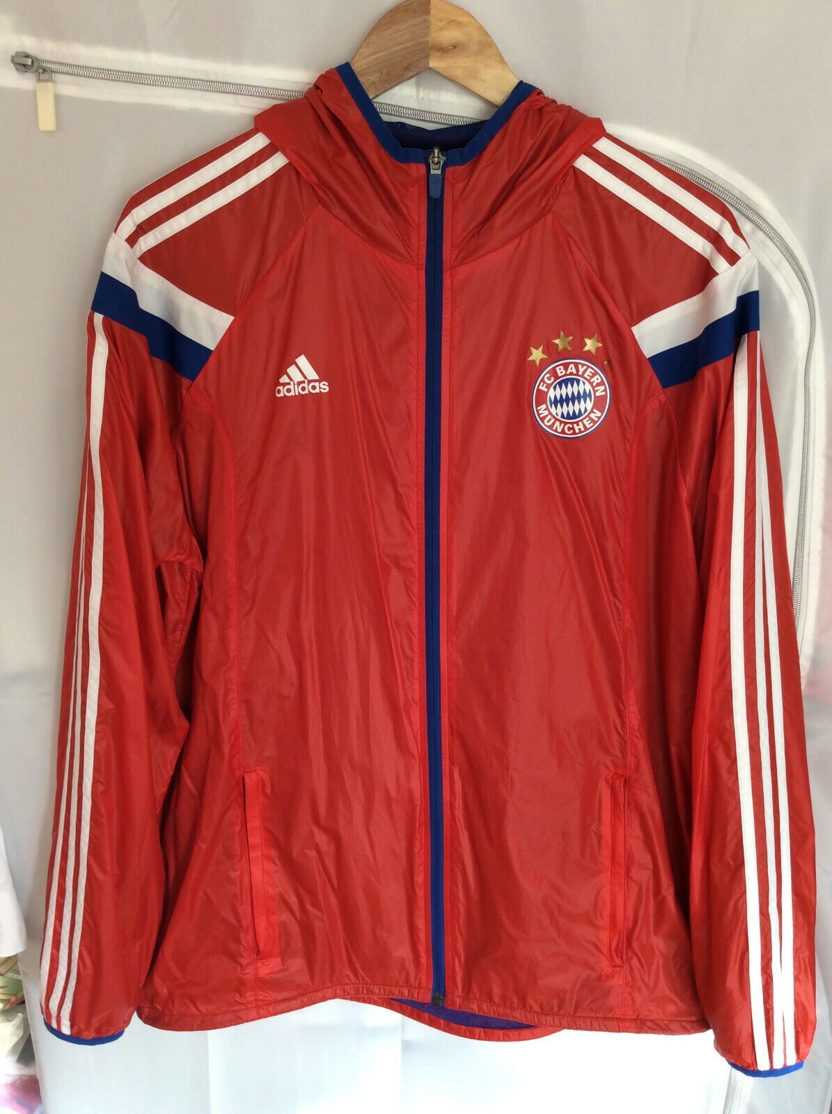 champán Víspera de Todos los Santos Cambio  adidas Performance FC Bayern Woven Anthem Jacket AC6727 100 Polyester Male  for sale online   eBay