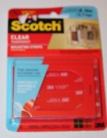 3m Scotch Indoor & Outdoor Clear Mounting Strips 24 Strips