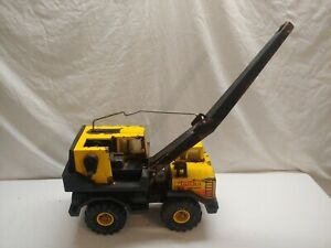 1980s-Vintage-Tonka-Turbo-Diesel-Crane-Truck-Pressed-Steel-XMB-975-rough-condit