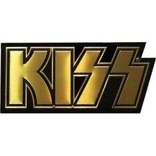 KISS LOGO - METAL STICKER 4.75 x 2.25 - BRAND NEW - CAR DECAL 7945