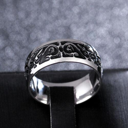 Ring For Men TItan Classic triangular pattern Discrete Viking Pattern Metal