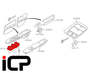 Details about RH Drivers Side Electric Window Switch Fits: Subaru Forester  STi SG9 06-07