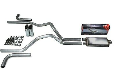 "Dodge Ram 1500 09-18 2.5/"" Dual Exhaust Kits Flowmaster 50 Slash Tip Corner Exit"