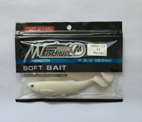 Paddle Tail Soft Plastic Shad Bright White
