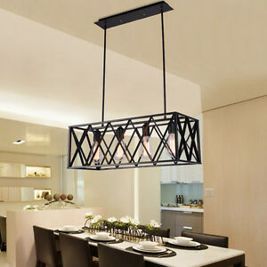 Kitchen Pendant Light Bar Lamp Black Chandelier Lighting Bedroom - Kitchen pendant lighting ebay