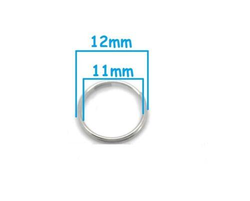 colier Creation bijoux 12 mm 20 Anneaux double de jonction Argenté Mat 12mm
