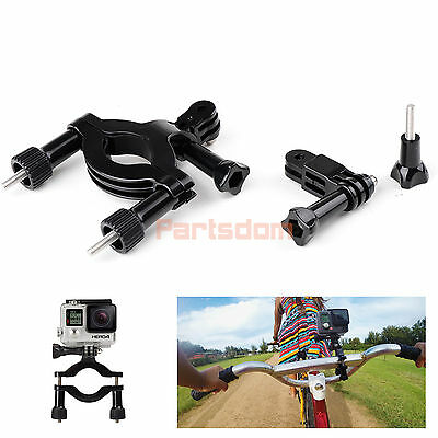 Gopro Hero 4 3+ 2 Roll Bar Mount Bike Handlebar Seatpost Pole Holder Accessories
