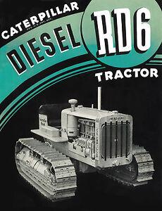 Caterpillar Diesel RD6 Sales Booklet 1930s