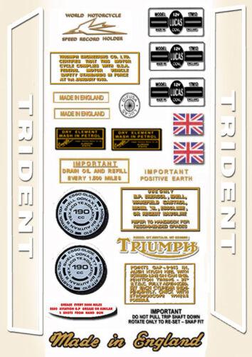 RESTORERS DECAL SETS Trident T150 T160 1968-76 Triumph Trident Decals