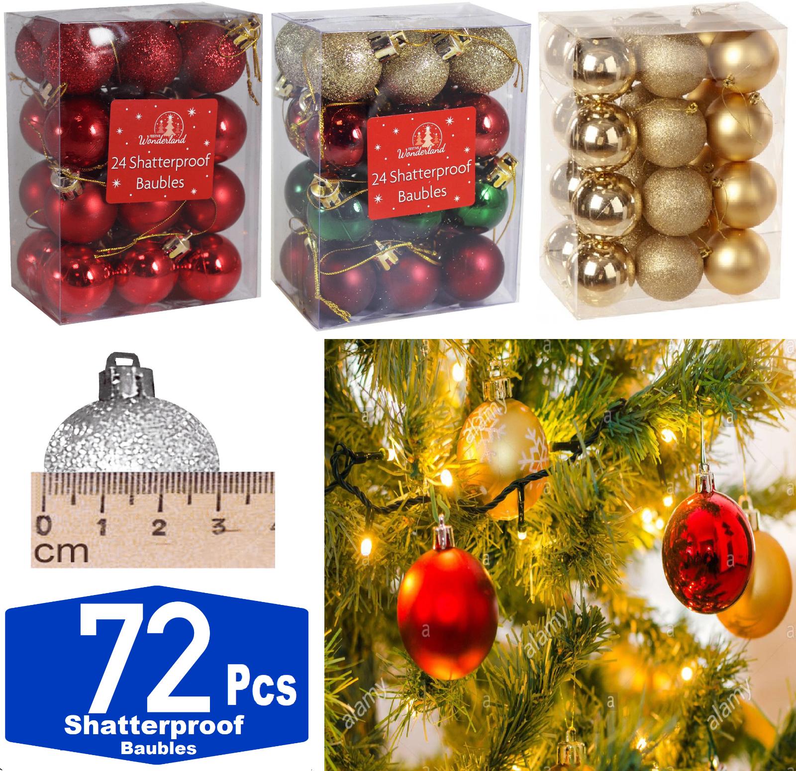 30 Luxury Shatterproof Christmas Baubles Tree Decorations Eucalyptus Mint Green For Sale Ebay