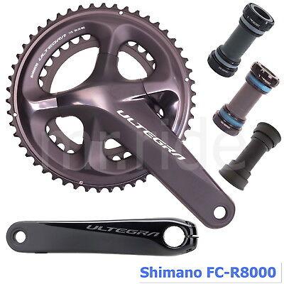 Shimano Ultegra FC-R8000 Crank set w//BB 2x11S 165//170//172.5//175mm,50//52//53T