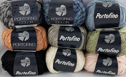 60/% algodón 100g = 9,90 € color verano hilados lana Grossa Portofino tejer