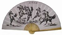 classic 35 Oriental Feng Shui Wall Fan-eight Horses, New, Free Shipping on Sale