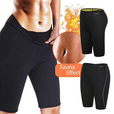 Women Sauna Workout Leggings Slimming Pant Neoprene Sweat Burn Fat Thigh Slimmer