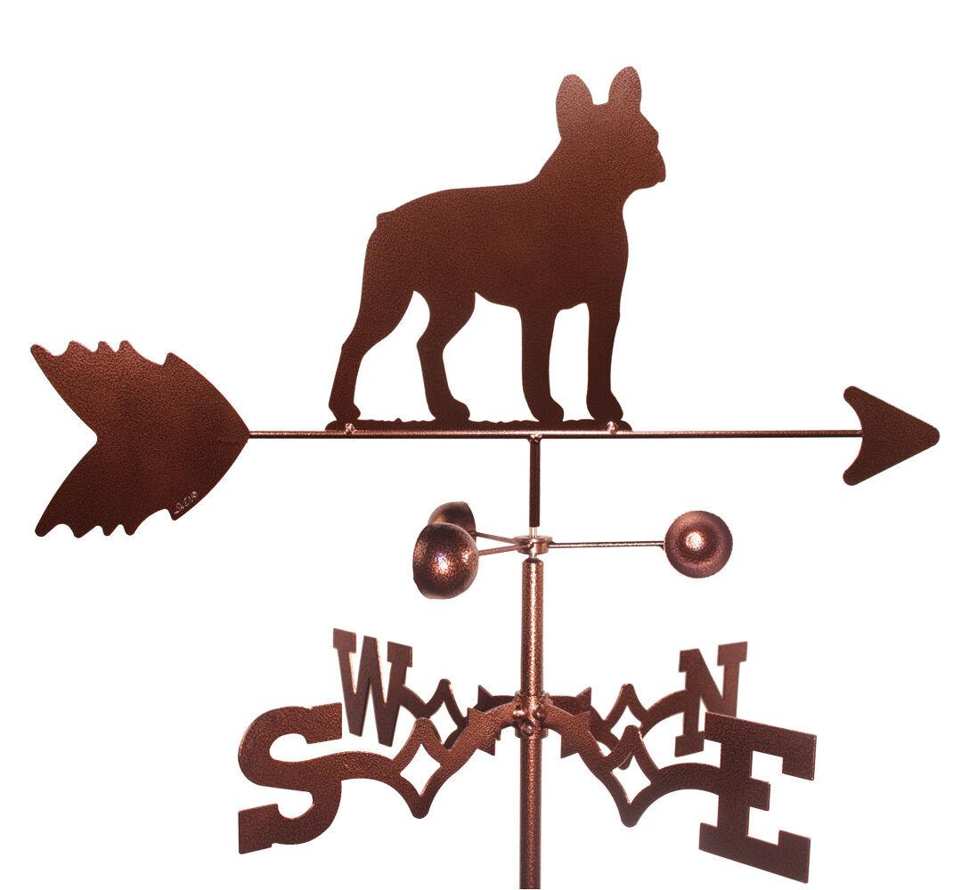 French Bulldog montaje de jardín veleta con